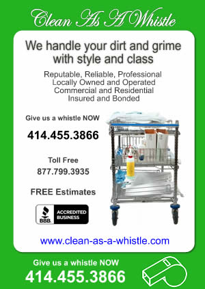 Clean As A Whistle - Milwaukee Cleaning Service - 414-455-3866