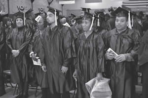 GED/HSED students at graduation ceremonies.