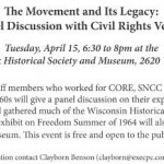 Panel Discussion with Civil Rights Veterans