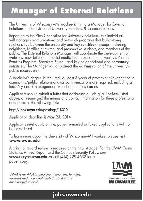 job-opening-manager-of-exeternal-relations-uw-milwaukee