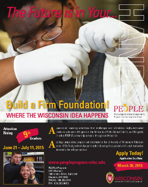 UW Madison People Program for 9th Graders