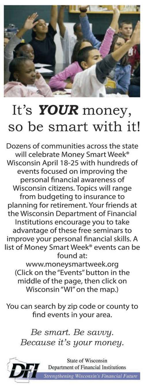 financial literacy milwaukee courier weekly newspaper. Black Bedroom Furniture Sets. Home Design Ideas