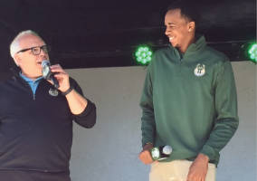 Bucks Player John Henson speaks to team broadcaster Jim Paschke about the new jerseys.