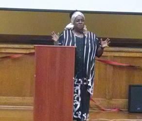 Keynote speaker JoAnn Watson. Photo by Mrinal Gokhale.