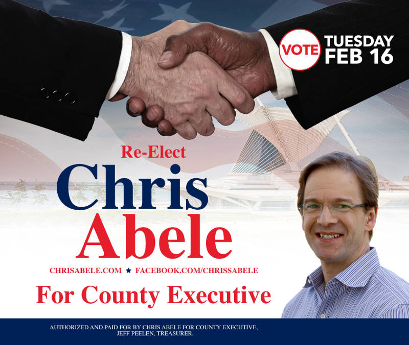 Vote to Re-elect Chris Abele for County Executive