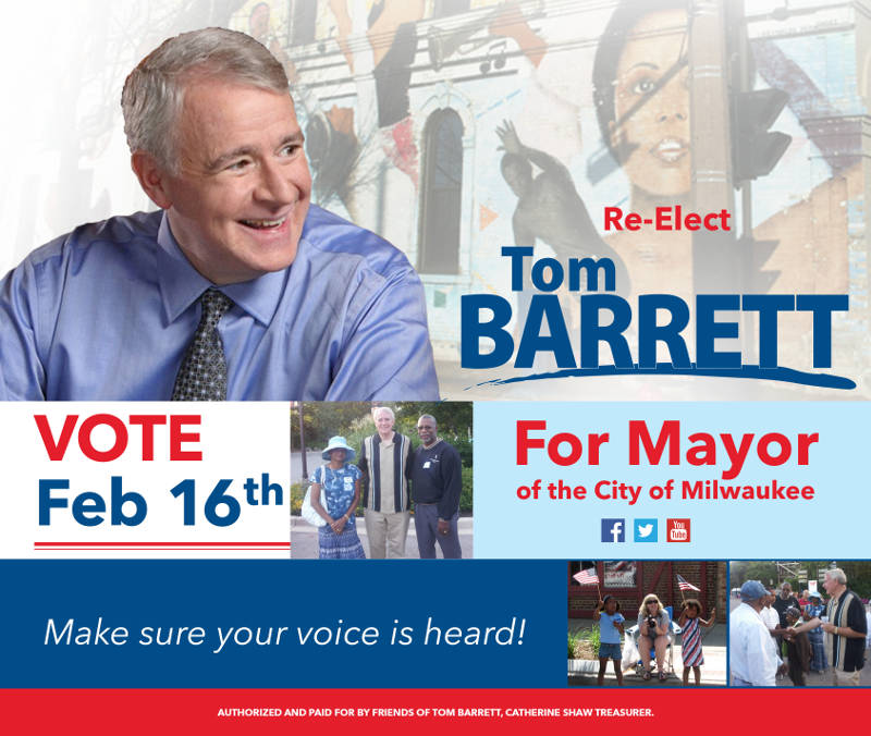Vote to Re-elect Tom Barrett for Mayor