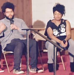 Actor Derrick Jones and director Catina Cole. Photo by Karen Stokes.