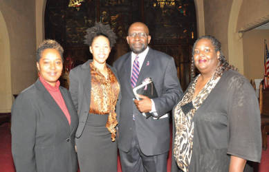 Sen. Lena Taylor, Stephanie Findley, Pastor Dr. Richard Sylvester and 1st Lady Laticia Sylvester