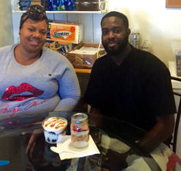 Raynesha Hays and Henry King, co-owners of Classy Lil' Cakes. (Photo by Karen Stokes)