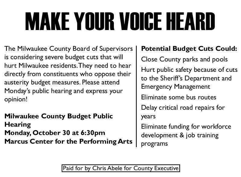 Make Your Voice Heard – Milwaukee County Budget Public ...
