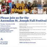 Ascension St. Joseph Fall Festival on November 8th