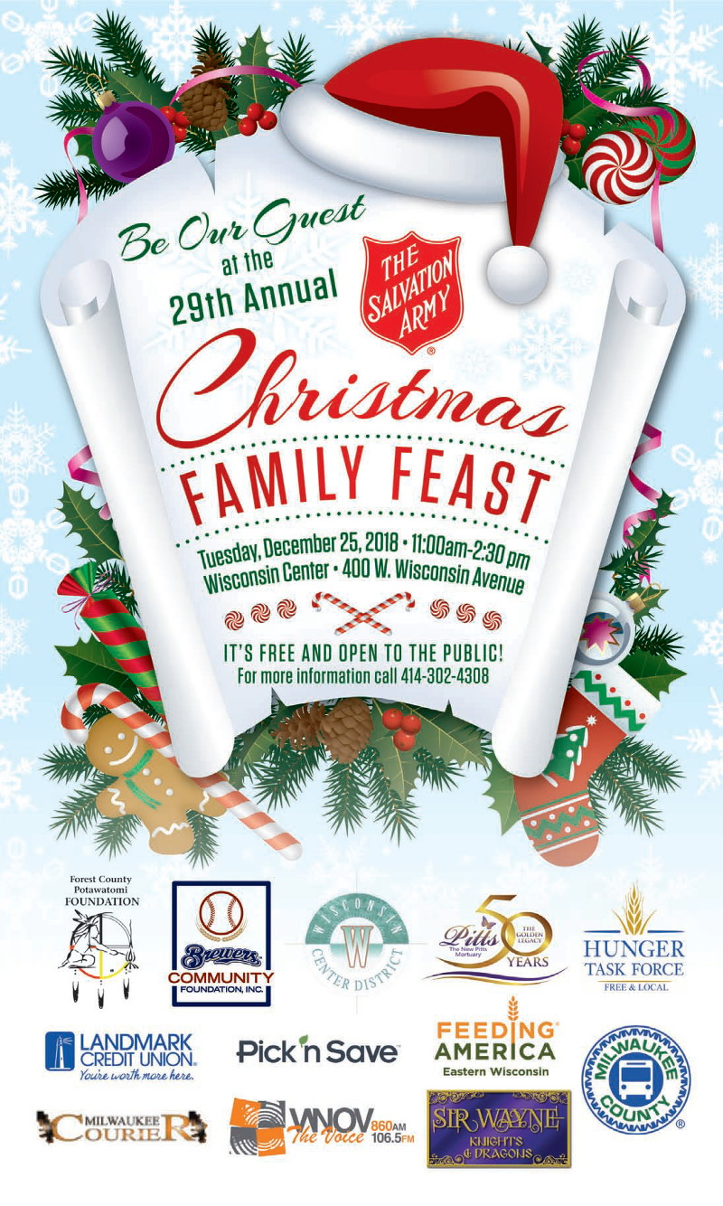 be our guest at the 29th annual christmas family feast on