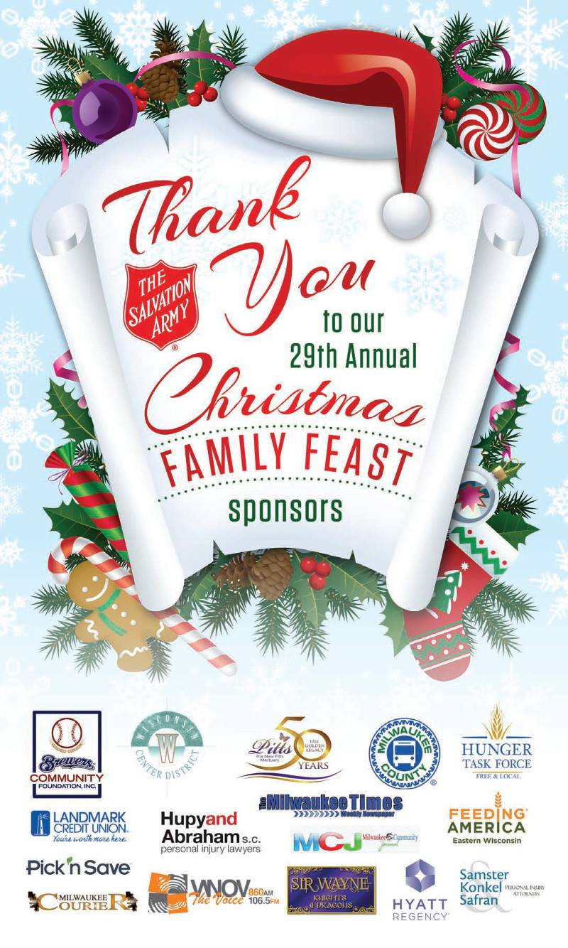 thank you to our 29th annual christmas family feast sponsors